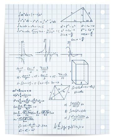 integral: matem�ticas y geometr�a de p�gina copybook conjunto Vectores