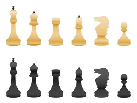 black and white chess  Illustration