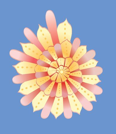 cockleshell: abstract yellow cockleshell vector