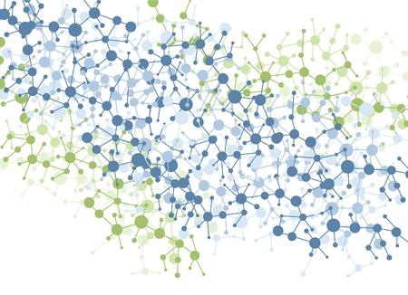 molécule vecteur de couleur de fond de connexion Vecteurs