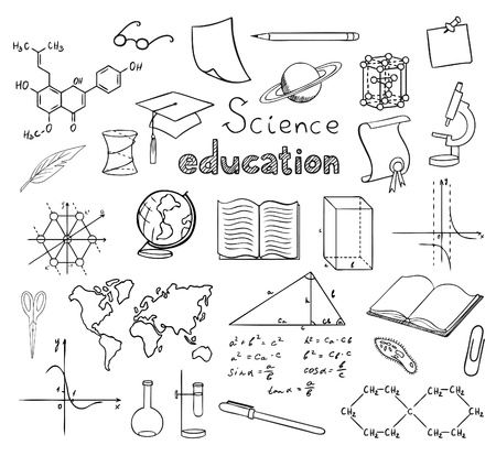math paper: school and education symbols vector Illustration
