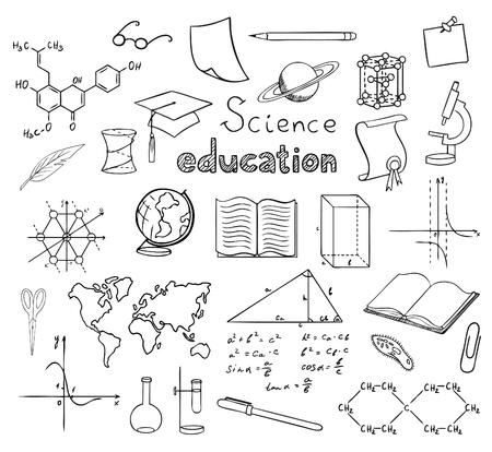 school and education symbols vector Illusztráció
