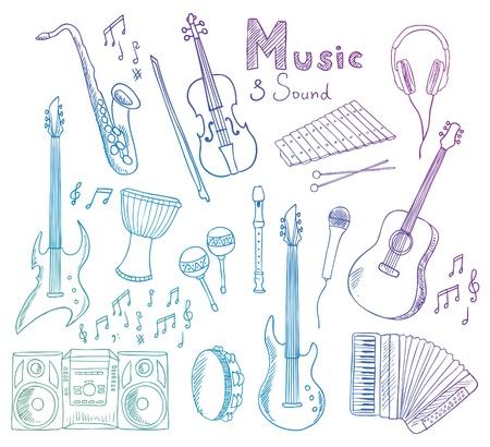 accord�on: collection de musique et du son Illustration