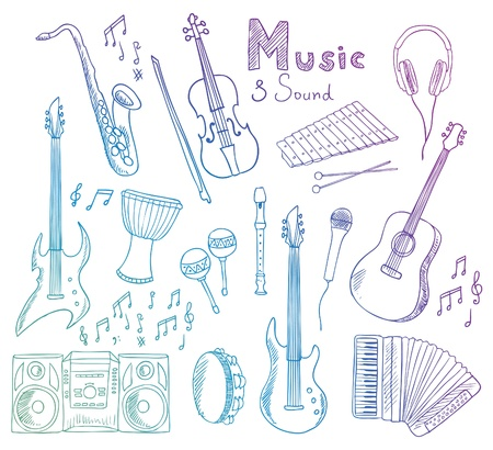 accordion: music and sound collection Illustration