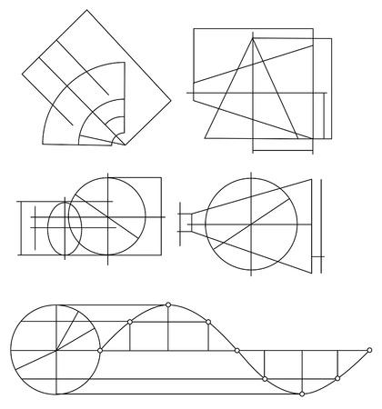 cosine: scheme of geometrical objects