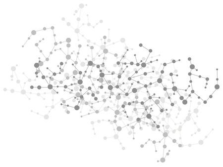 그리드: 분자 연결 배경 일러스트