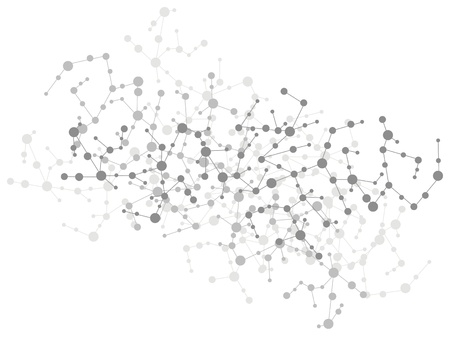 molecuul verbinding achtergrond Vector Illustratie
