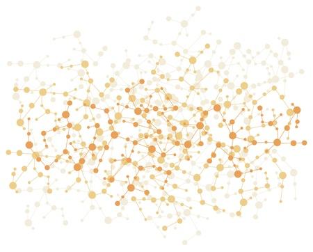 molecule connection background  Illustration