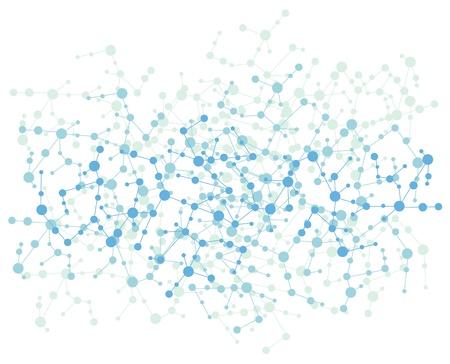 Fondo de conexión de molécula