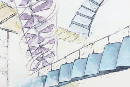 staircases: abstraction with many diffirent staircases