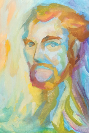 abstract portrait: multicolored abstract portrait of man