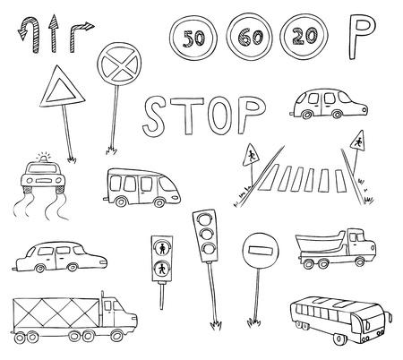 verkeer en vervoer vector set