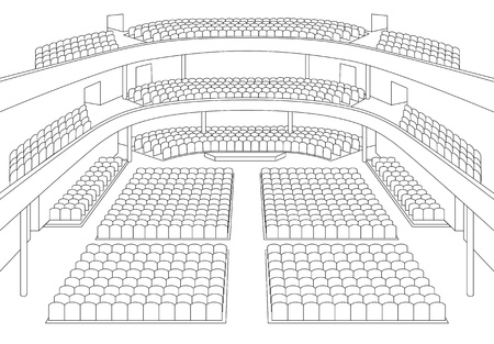 hall: interior of theater hall plan vector