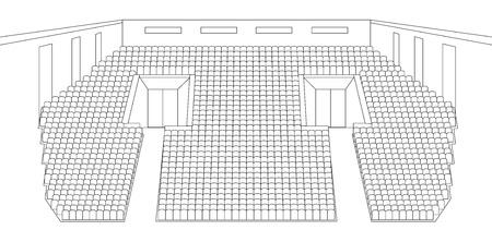 interieur van bioscoop plannen vector