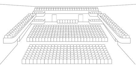 interieur van theaterzaal plannen vector