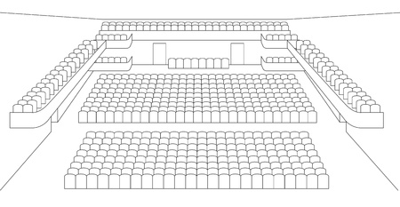 theater auditorium: interior of theater hall plan vector