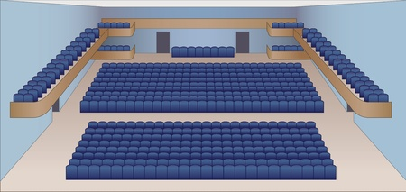 interior of theater hall color plan vector Stock Vector - 13561215