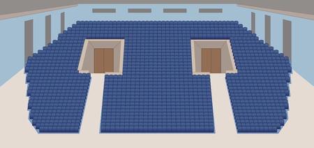 interior of cinema hall color plan vector Stock Vector - 13561216