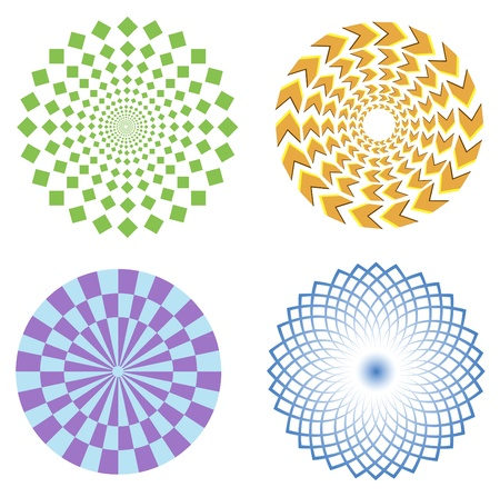 psychical: optical illusion symbols vector