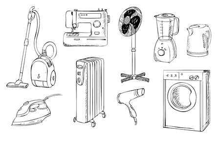 everyday: everyday household appliances set