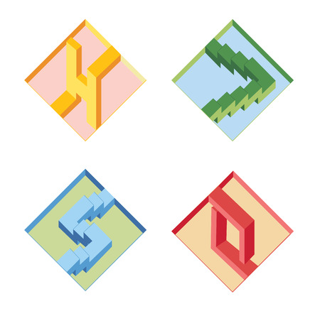 psychical: unreal bright geometrical objects