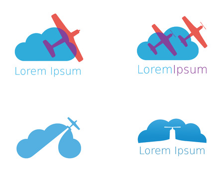 abstract aviation icons set  vector Vector