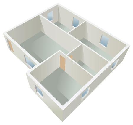 white empty flat planning vector Vector