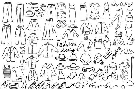 lazo negro: colección de moda y complementos de vestir iconos vectoriales