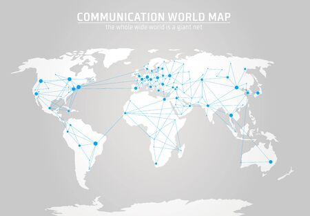 grid pattern: Communication world map