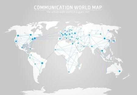 hemisphere: Communication world map