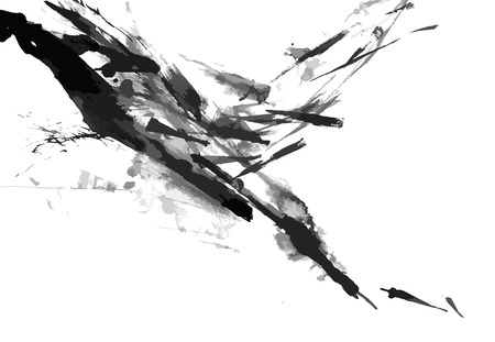 dessin noir et blanc: R�sum� encre peinture fond