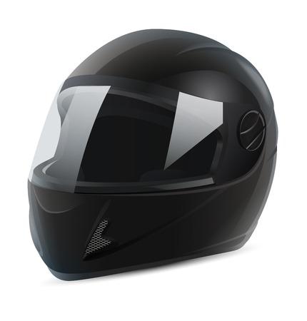 integral: black motorcycle helmet vector Illustration
