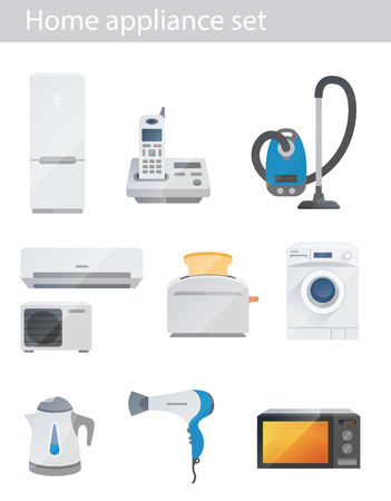 electronics icons: Household appliances vector set