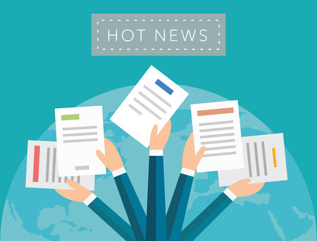 Hot news vector background Ilustração