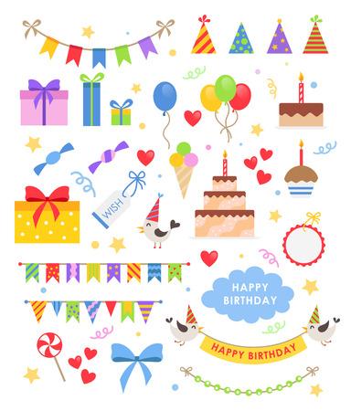 party celebration: Birthday party set