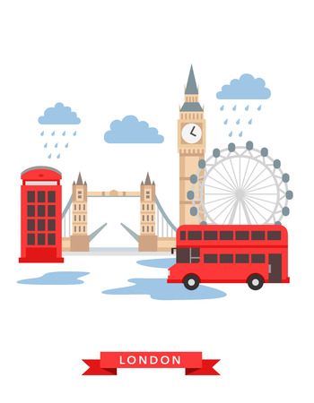 tower of london: London flat background vector