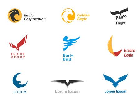 adler silhouette: V�gel Branding Symbole Vektor-Set Illustration