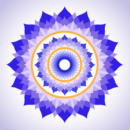 abstract painted picture mandala of Sahasrara chakra Vector
