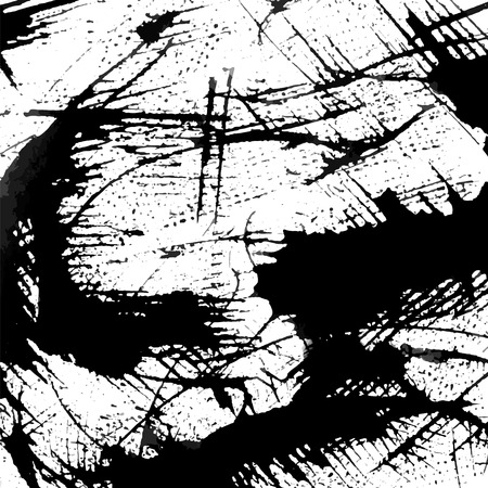 dabs: Abstract ink grunge texture vector on white background Illustration