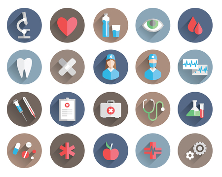 exam: medicine icons vector set