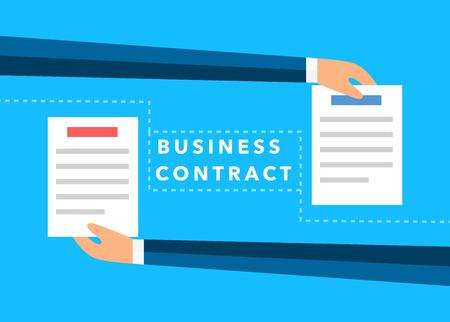 interchange: business hands flat vector background
