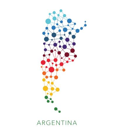 argentina map: dotted texture Argentina vector background Illustration