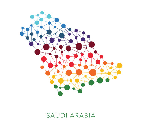 saudi: dotted texture Saudi Arabia vector background