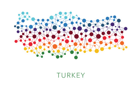 dotted texture Turkey vector background