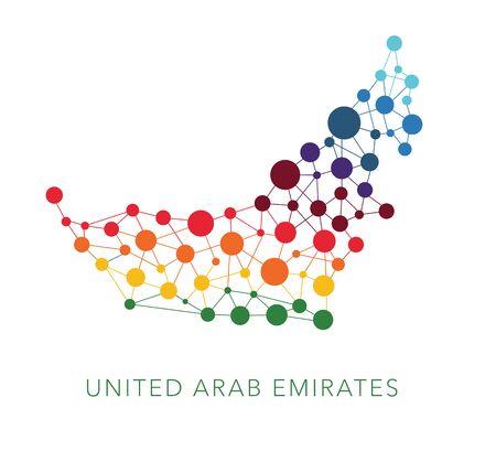 emirates: dotted texture United Arab Emirates vector background Illustration