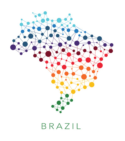 brazil country: dotted texture Brazil vector background