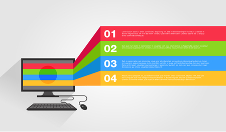 presentation background: abstract computer infographic vector template Illustration