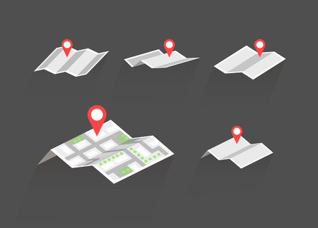 mapa conceptual: mapas con símbolos conjunto de destino vector