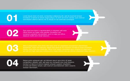 plotter: infographic colorful template flat vector Illustration