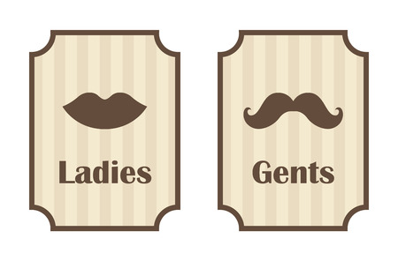gents: Ladies and gents toilet signs vector Illustration
